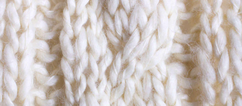 Billede af et strikket stykke tøj