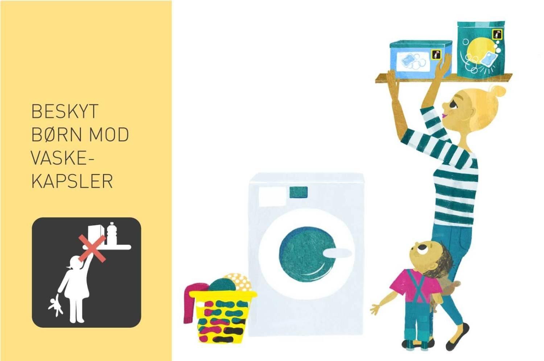 Beskyt børn mod vaskekapsler