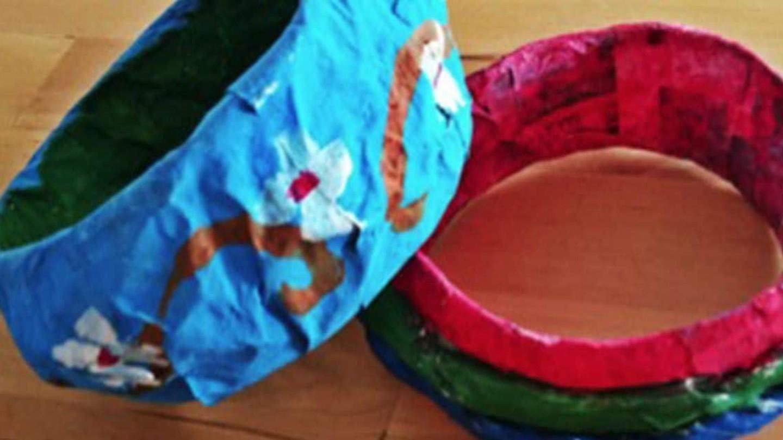 Papmaché-idéer til børn: Lav armbånd af papmaché